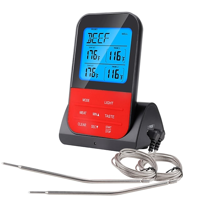 Waterproof Wireless Digital BBQ Thermometer Device Cooking Meat Food Oven Grill With Timer Function