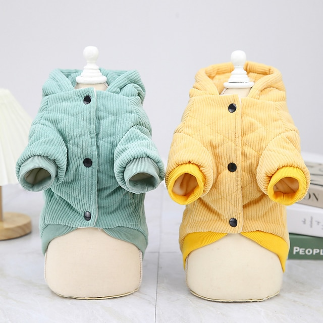 dog clothes autumn and winter clothes new cotton coat teddy small dog pet clothing winter 21 corduroy two-leg cotton coat