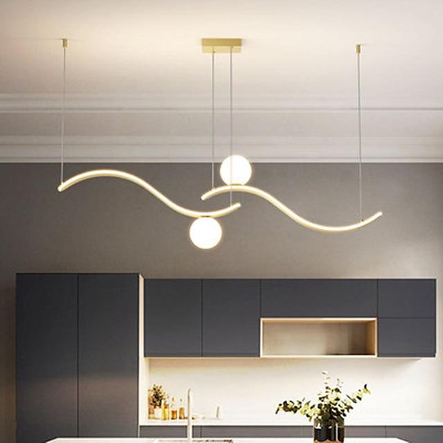 100 cm Single Design Chandelier Aluminium Alloy Modern Style Stylish Painted Finishes LED Modern 220-240V
