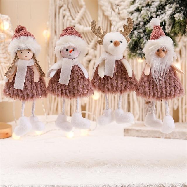 Christmas Decorations Creative Santa Snowman Doll Doll Christmas Tree Pendant Mini Doll