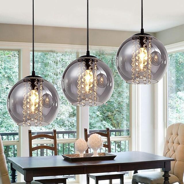 20 cm Globe Design Single Design Pendant Light LED Metal Vintage Style Globe Electroplated Painted Finishes Vintage Country 220-240V