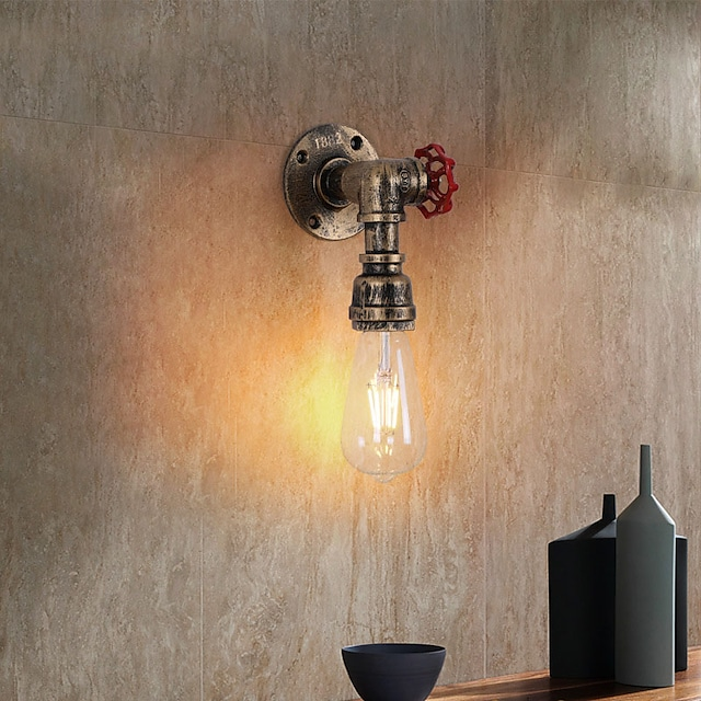 Creative Vintage Country Flush Mount Wall Lights Living Room Kitchen Iron Wall Light IP20 220-240V