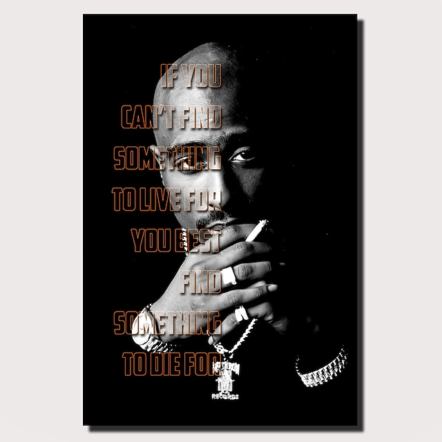 1 Panel Wall Art Canvas Prints Painting Artwork Picture TUPAC SHAKUR Painting Home Decoration Decor Rolled Canvas No Frame Unframed Unstretched