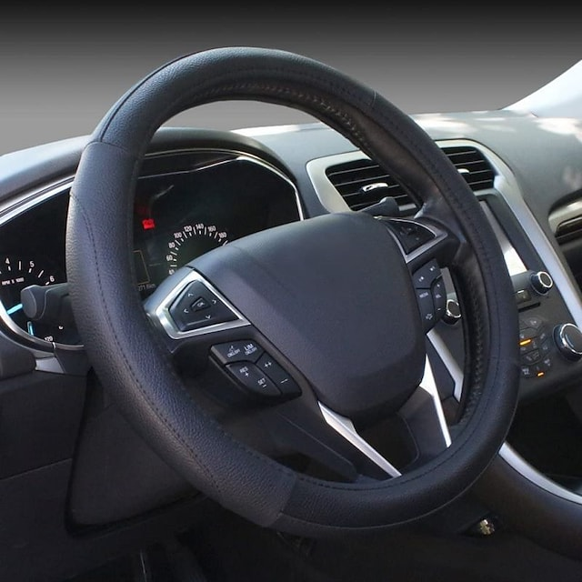Direct Black Microfiber Leather Auto Car Steering Wheel Cover Universal 15 inch For universal General Motors All years