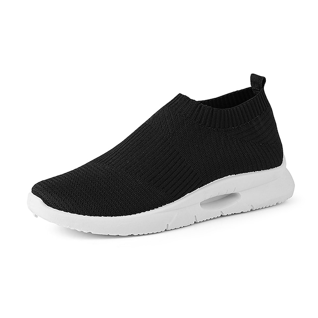 Men's Unisex Trainers Athletic Shoes Sporty Casual Classic Athletic Daily Fitness & Cross Training Shoes Tissage Volant Black / White White Black Fall Winter