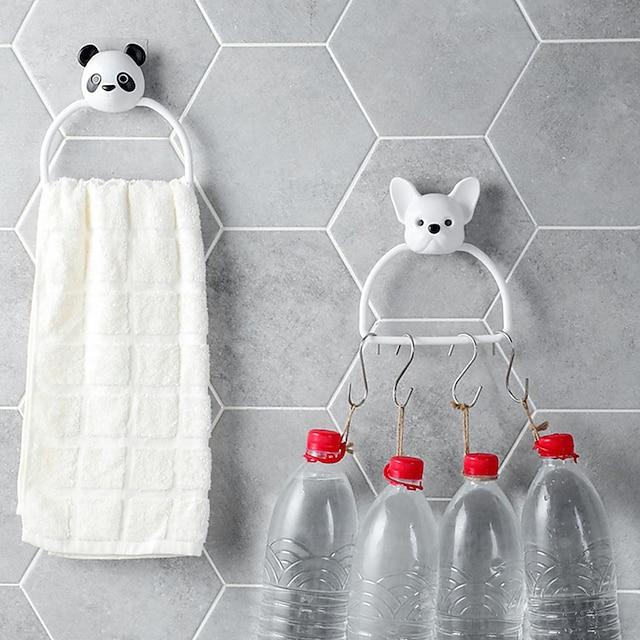 Cartoon Perforation-free Towel Rack Bathroom Bar Bathroom Hanger Bath