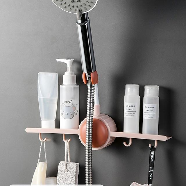 Shower Holder For Adjusting Shower Head Fixed Base Rack With Hook