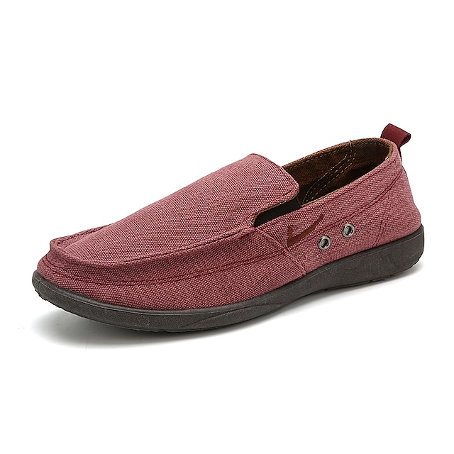 Men's Loafers & Slip-Ons Business Casual Classic Daily Office & Career Tissage Volant Gray Burgundy Beige Fall Winter