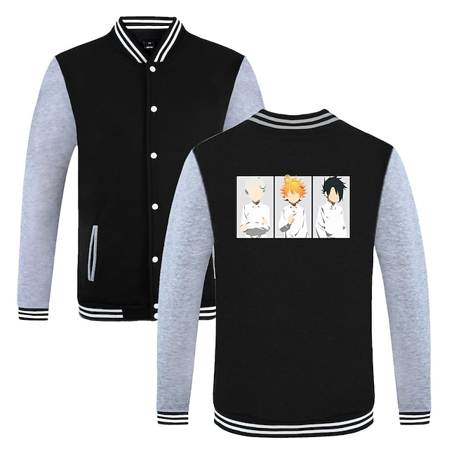Inspired by The Promised Neverland Emma Varsity Jacket Poly / Cotton Anime Harajuku Graphic Kawaii Coat For Men's / Women's