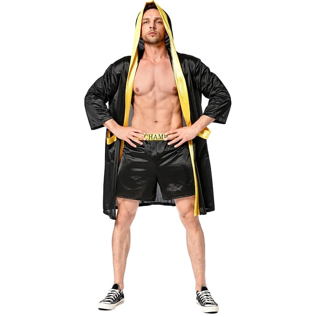 Cosplay Cosplay Costume Adults' Men's Halloween Halloween Halloween Festival / Holiday Terylene Black Men's Easy Carnival Costumes Solid Color / Top / Shorts