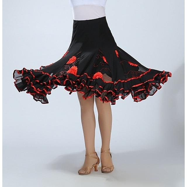 Women's Dance Dancing Skirt Polyster Lake blue Pink Purple Skirts