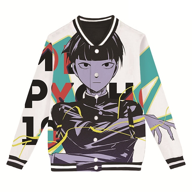 Inspired by Mob Psycho 100 Reigen arataka Anime Cartoon Polyster Anime 3D Harajuku Graphic Coat For Men's / Women's / Couple's