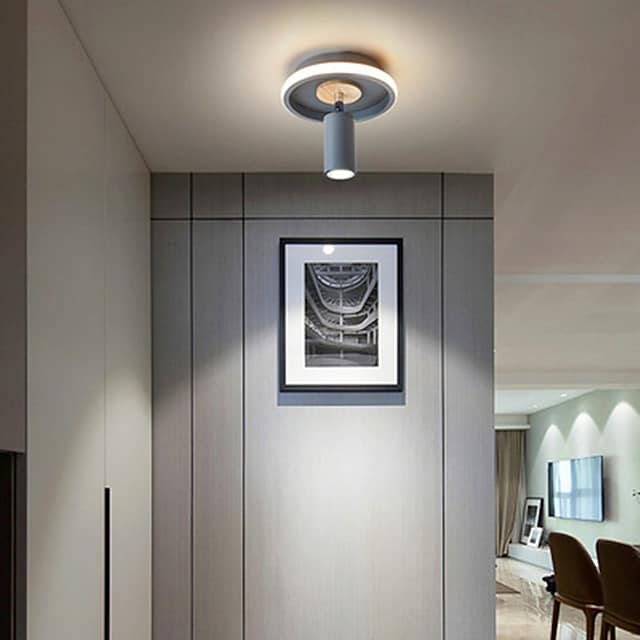 20 cm Dimmable Circle Design Flush Mount Lights Metal Artistic Style Modern Style Stylish Painted Finishes LED 220-240V