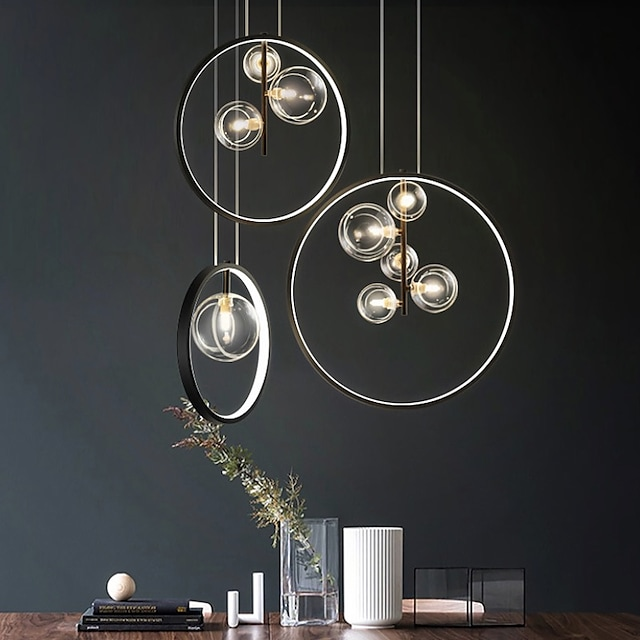 28/40/50 cm Globe Design Cluster Design Pendant Light Metal Modern Style Stylish Globe Painted Finishes LED Modern 220-240V