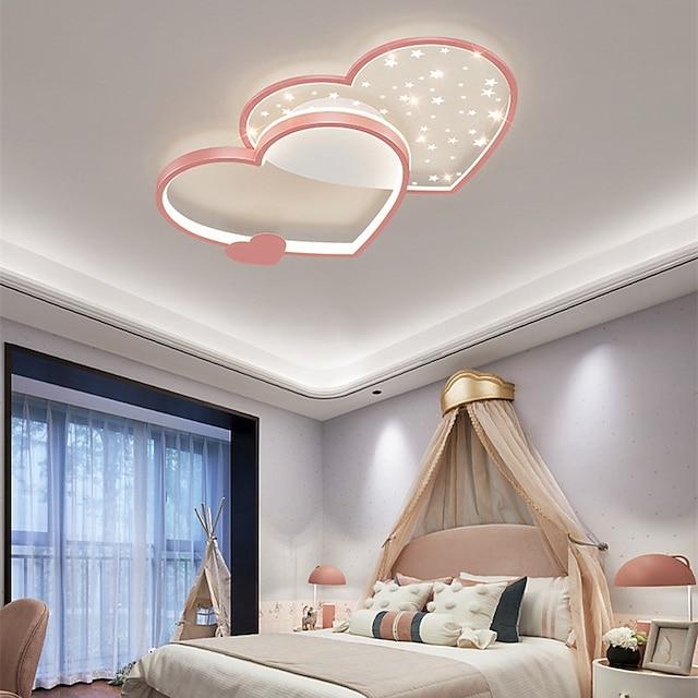 45 cm Circle Design Flush Mount Lights Metal Artistic Style Heart Modern Style Painted Finishes LED Modern 220-240V