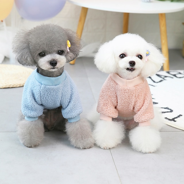 pet clothes dog clothes autumn and winter clothes new teddy small dog pet clothes winter 21 back bear fleece