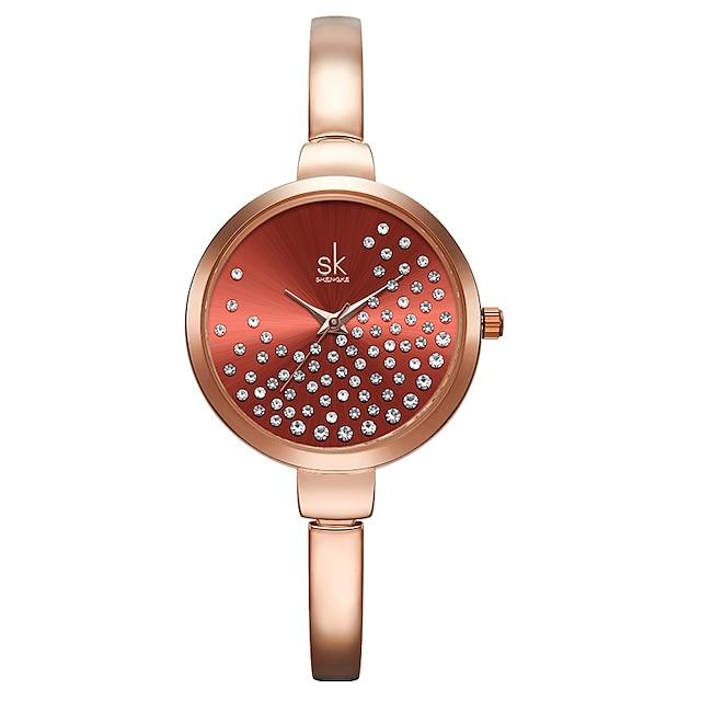 Shengke Women Watches Women Fashion Watch Geneva Designer Ladies Watch Luxury Brand Diamond Quartz Wrist Watch Gifts For Women