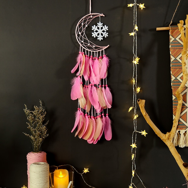 Crescent Dream Catcher Home Decoration pendant Christmas home decoration Snowflake Dream catcher wall hanging wall decoration