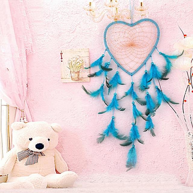Feather pendant Dream catcher wall decoration heart pendant creative ethnic decoration