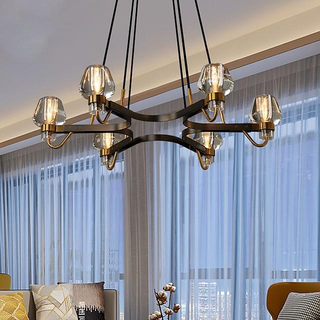 91 cm Pendant Lantern Design Chandelier Metal Electroplated Painted Finishes Vintage 220-240V