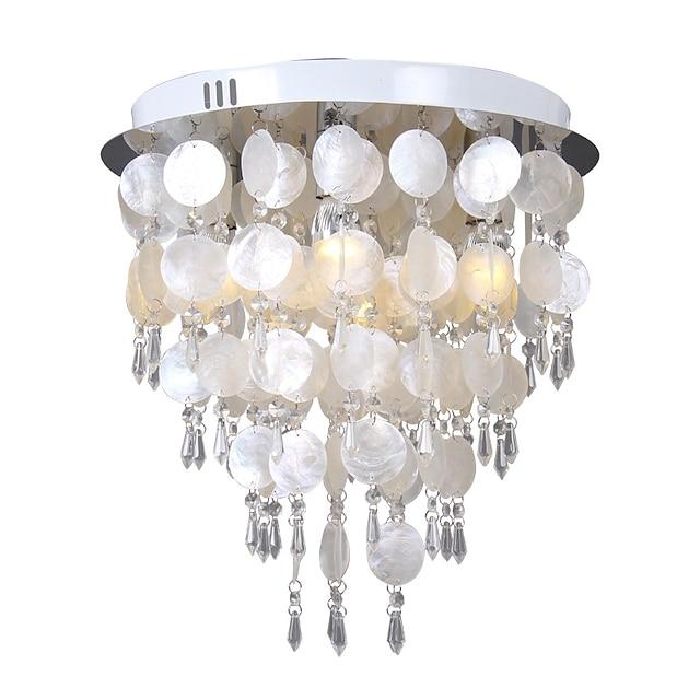20 cm Lantern Design Flush Mount Ceiling Lights Chandelier Metal Electroplated LED 220-240V