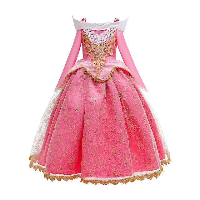 Princess Dress Party Costume Girls' Movie Cosplay Cosplay Pink Dress Christmas Halloween New Year Polyester Organza