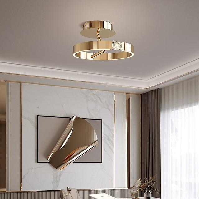 40 cm  Lantern Design Flush Mount CeilingLight LED Stainless Steel Electroplated Painted Finishes Modern 220-240V