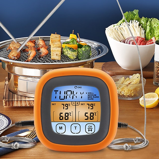 Digital Meat Kitchen Thermometer Meat Temperature Probe Waterproof Stainless BBQ Temperature Gauge
