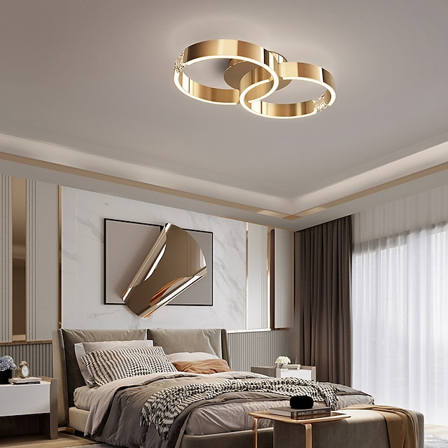 52 cm  Lantern Design Flush Mount Ceiling Light Stainless Steel Electroplated Painted Finishes LED 220-240V