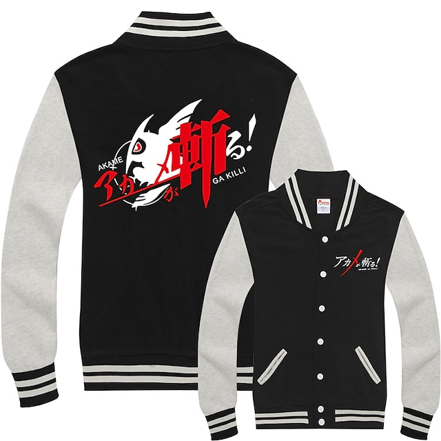 Inspired by Akame Ga Kill! Tatsumi Kon Varsity Jacket Poly / Cotton Anime Harajuku Graphic Kawaii Coat For Men's / Women's