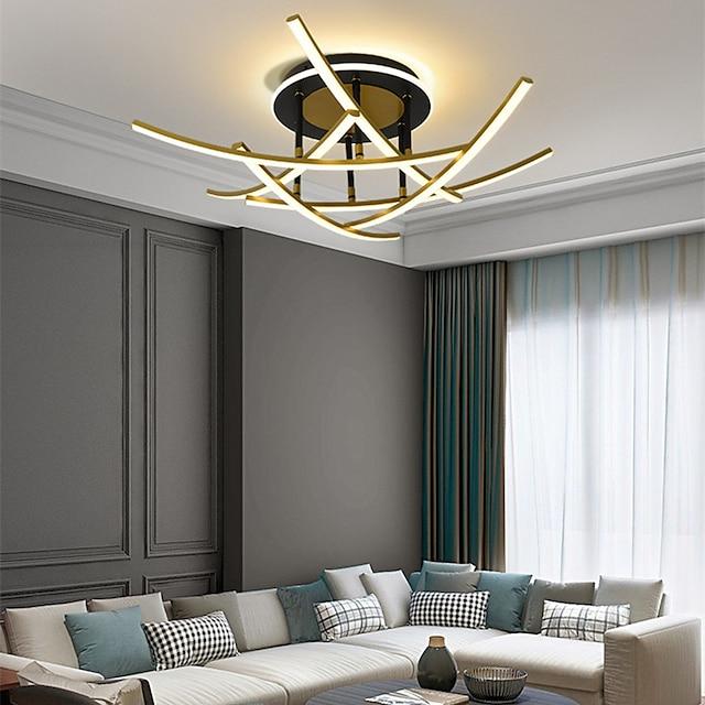 59/73 cm Circle Design Single Design Chandelier Metal Artistic Style Modern Style Stylish Painted Finishes LED Modern 220-240V