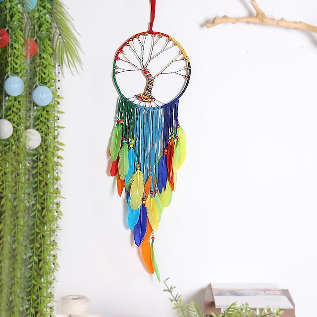 Color feather Big Wave dream Catcher Home Decoration wall hanging wall pendant Tree of Life Dream catcher room decoration