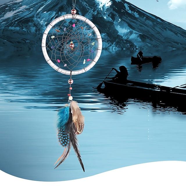 Ancient Tibetan color gravel dream catcher car dream catcher pendant feather ornaments home decoration car