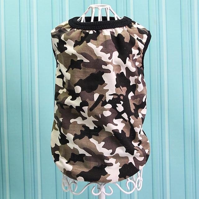 2017 spring and summer new dog vest camouflage vest teddy pomeranian bichon puppies dog vest