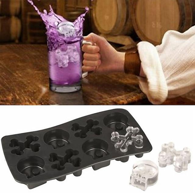 Spooky Halloween Shaped Ice Cube Tray Food Molds Pumpkin Vampire Teeth Skulls