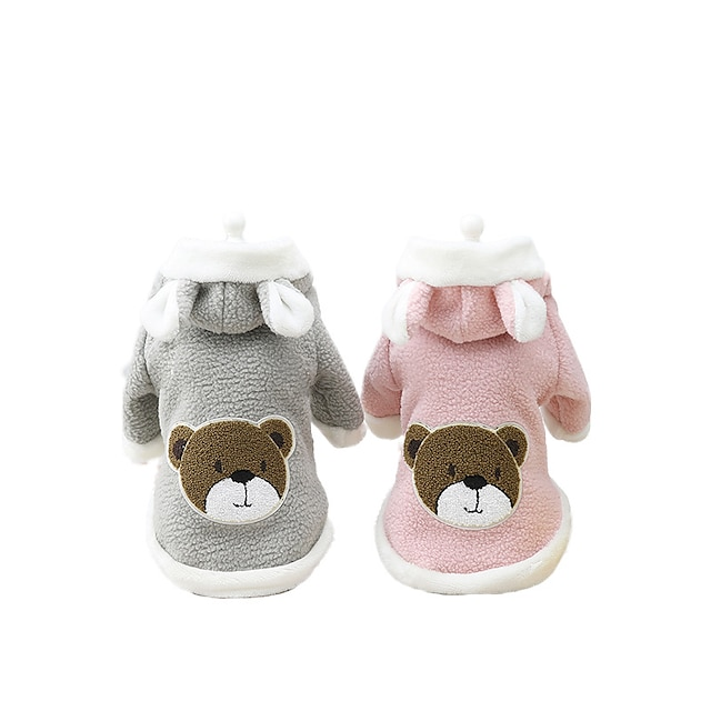 pet supplies dog clothing thick bear bag hooded sweater pet dog autumn and winter cute puppy clothes autumn and winter