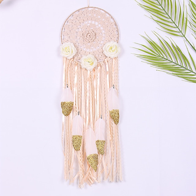 Hand woven dream catcher ring hand hook jacquard tassel home wall decoration sofa TV background wall hanging