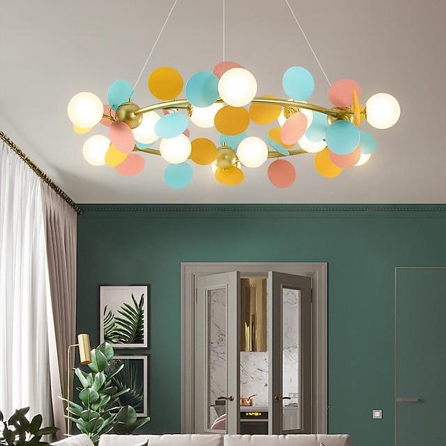105 cm Pendant Light LED Lantern Design Chandelier Metal Painted Finishes Modern 220-240V