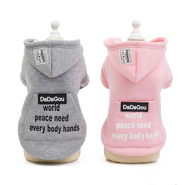 pet clothes dog clothes autumn and winter clothes new style teddy bichon small dog pure cotton fabric 19 big pocket sweater