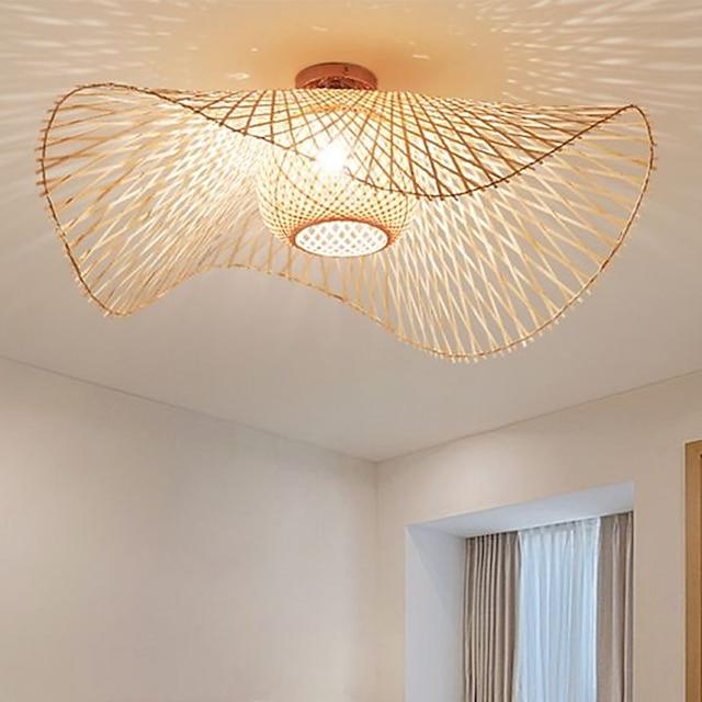 45/65/75 cm  Lantern Design Flush Mount Ceiling Lights Wood / Bamboo Lantern Painted Finishes Nordic Style 220-240V