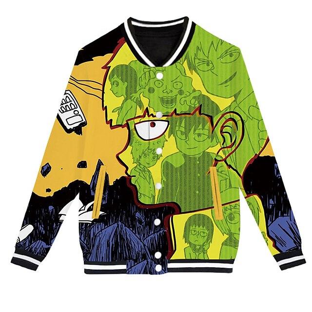 Inspired by Mob Psycho 100 Reigen arataka Varsity Jacket Polyster Anime 3D Harajuku Graphic Coat For Men's / Women's