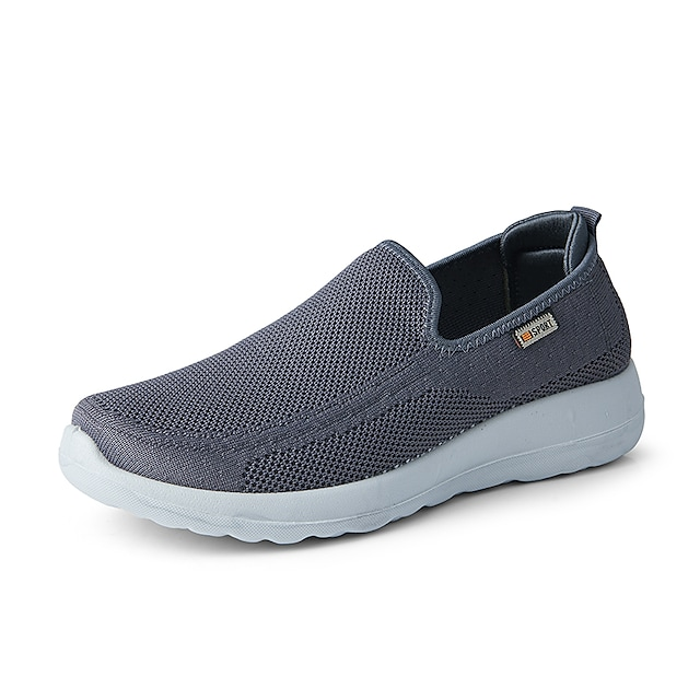 Men's Loafers & Slip-Ons Sporty Casual Classic Daily Outdoor Walking Shoes Tissage Volant Purple Red Gray Fall Winter