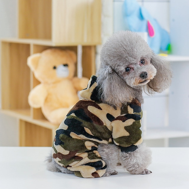 dog clothes camouflage fleece autumn and winter new manufacturers agent clothing pet dog clothes small and medium-sized dogs