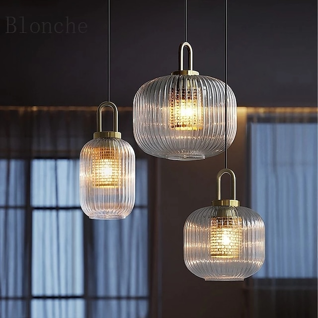 12/18/24 cm Pendant Lantern Design Geometric Shapes Pendant Light LED Metal Modern Style Hollow Out Electroplated Painted Finishes Modern Nordic Style 220-240V