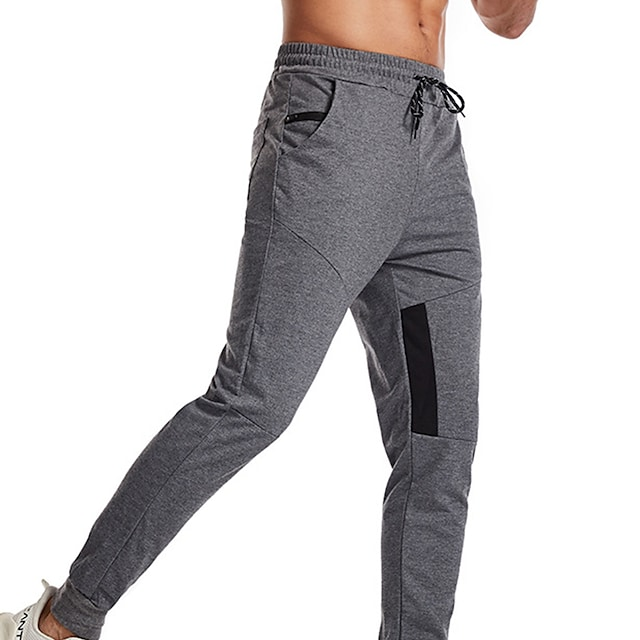 Men's Sweatpants Joggers Athletic Bottoms Drawstring Pocket Beam Foot Winter Fitness Workout Walking Jogging Training Breathable Soft Normal Sport Solid Colored Dark Grey White Black Red Navy Blue