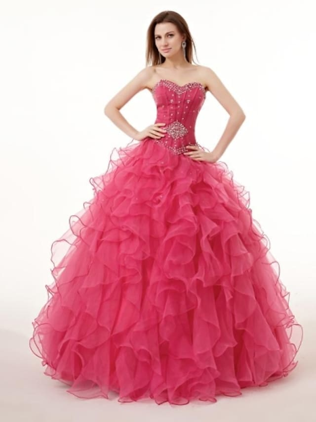 Ball Gown Wedding Dresses Sweetheart Neckline Floor Length Georgette with 2021