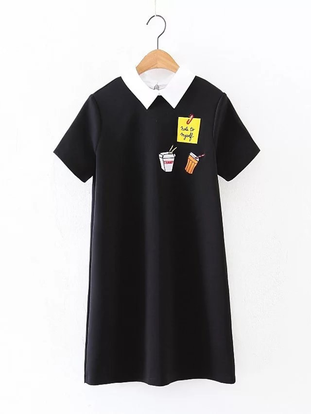 Women's Going out Daily Simple Street chic Loose Shift T Shirt Dress
