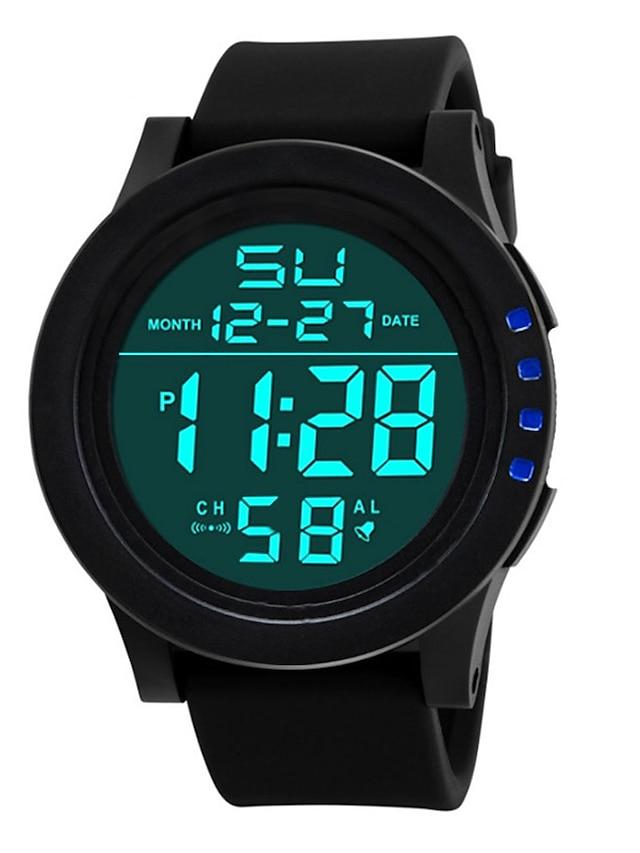 Men's Digital Watch Digital Digital Fashion Calendar / date / day Dual Time Zones Noctilucent