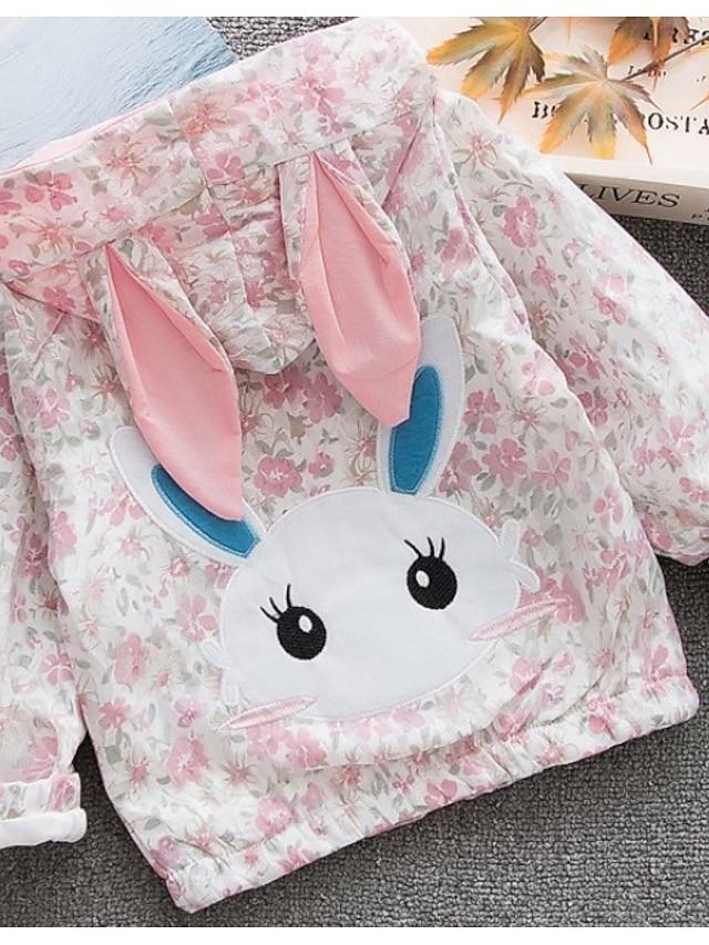 Baby Girls' Basic Floral Long Sleeve Regular Suit & Blazer Blushing Pink / Toddler