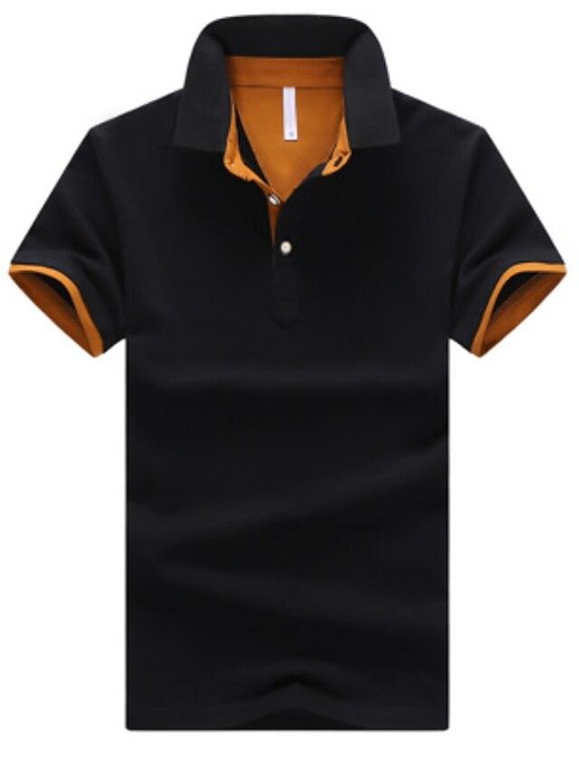 Férfi Golfing Teniszing Egyszínű Extra méret Rövid ujjú Hétköznapi Felsők Alkalmi / Napi Szabadtéri Állógallér Medence Tengerészkék Fehér